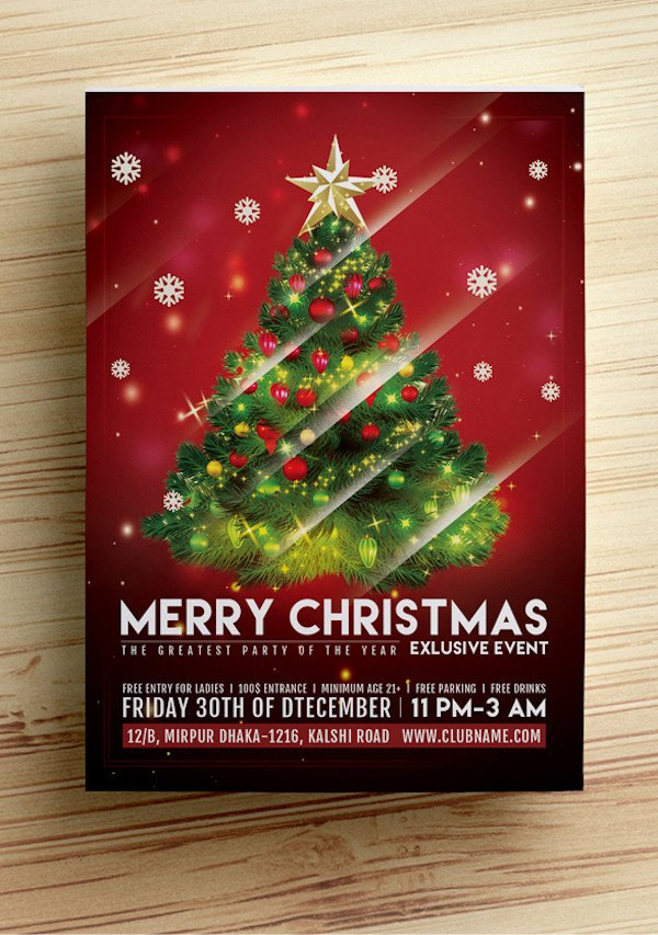 Christmas Flyer Template Free Download 25 Best Free Christmas Flyer Templates Dzineflip