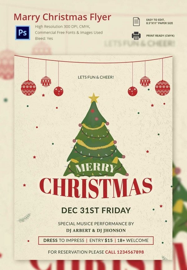 Christmas Flyer Template Free Download 30 Christmas Flyer Templates Psd Vector format