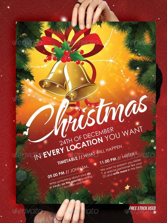 Christmas Flyer Template Free Download Christmas Brochure Templates Free