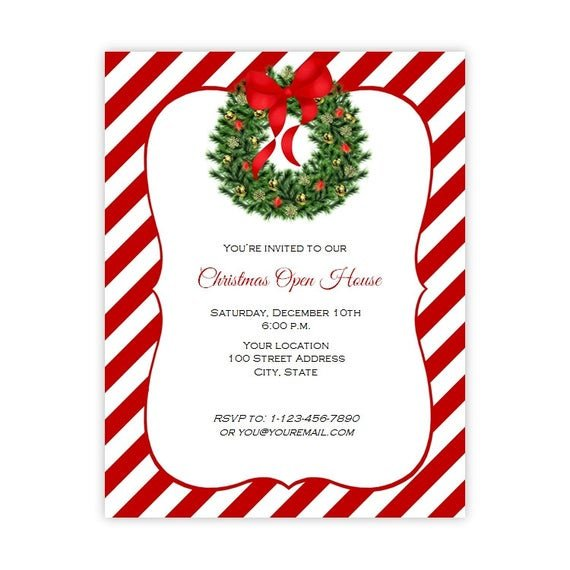 Christmas Flyer Template Free Download Christmas Invitation Flyer Holiday Party Flyer 8 5 X 11
