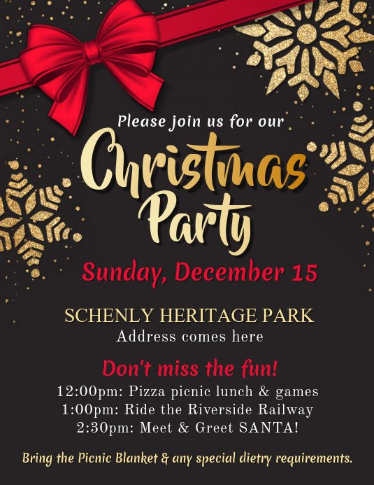 Christmas Flyer Template Free Download Copy Of Christmas Party Flyer Template