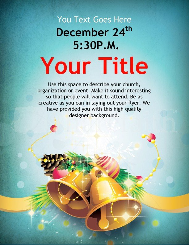 Christmas Flyer Templates Word Christmas Bells Flyer Template Template