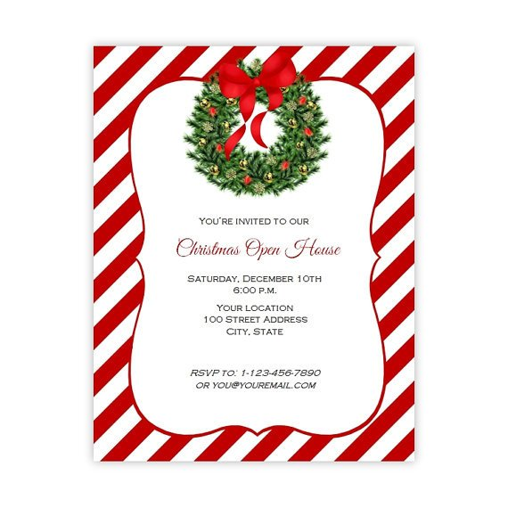 Christmas Flyer Templates Word Christmas Invitation Flyer Holiday Party Flyer 8 5 X 11