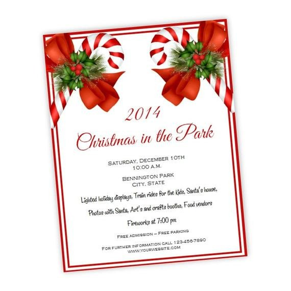 Christmas Flyer Templates Word Christmas Party Invitation Holiday Party Flyer 8 5 X 11