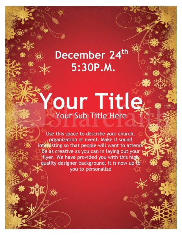 Christmas Flyer Templates Word Joy Christmas Flyer Template