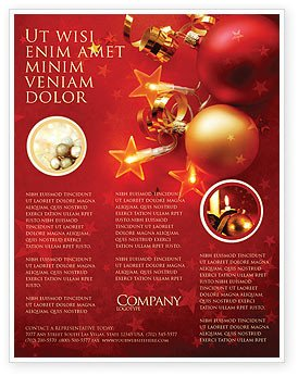 Christmas Flyer Templates Word Red Christmas theme Flyer Template Background In