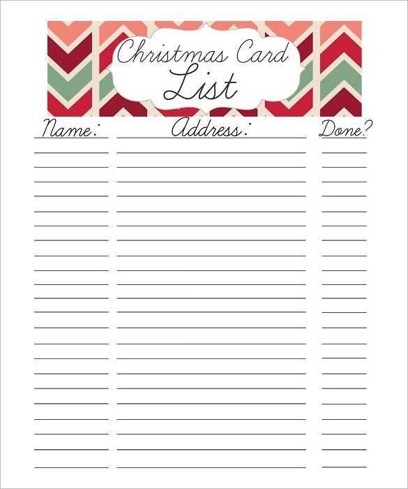 Christmas Gift Lists Templates 24 Christmas Gift List Templates Free Printable Word