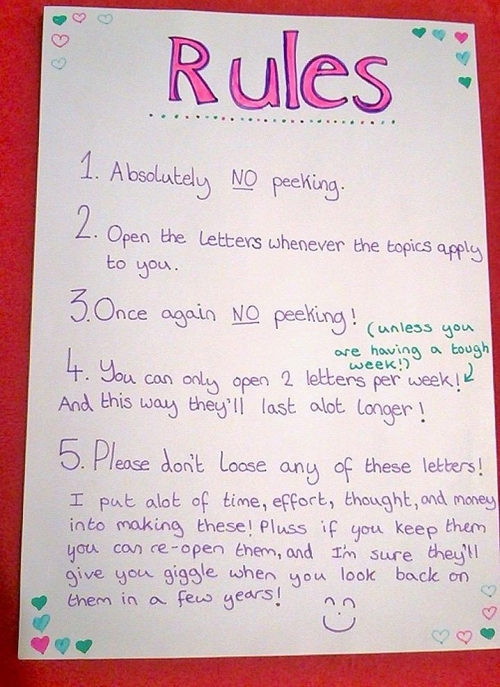 Christmas Letter to Boyfriend Here are the Rules I Use to Put Inside the Open now Letter