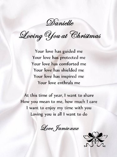 Christmas Letter to Boyfriend Personalised Romantic Christmas Poem Scroll Loving You