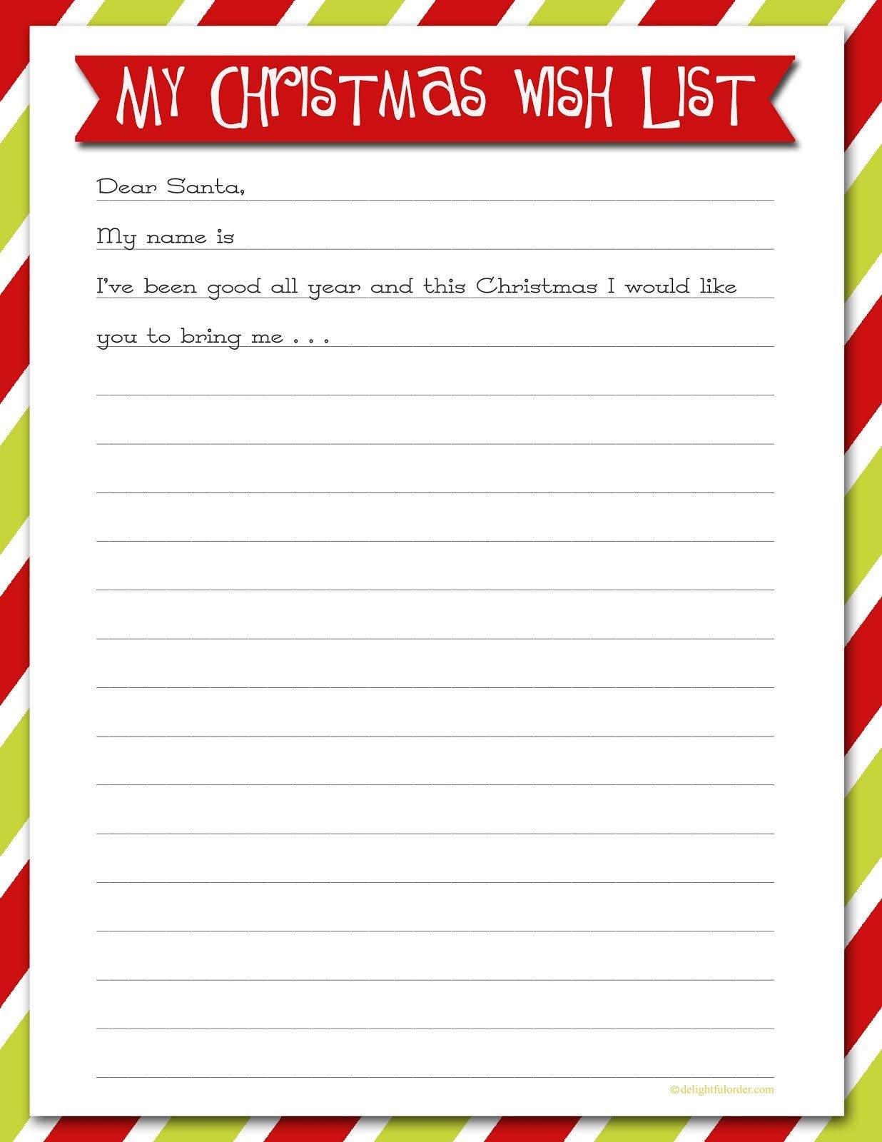 Christmas List Template Word Printable Christmas Wish Lists are We there yet