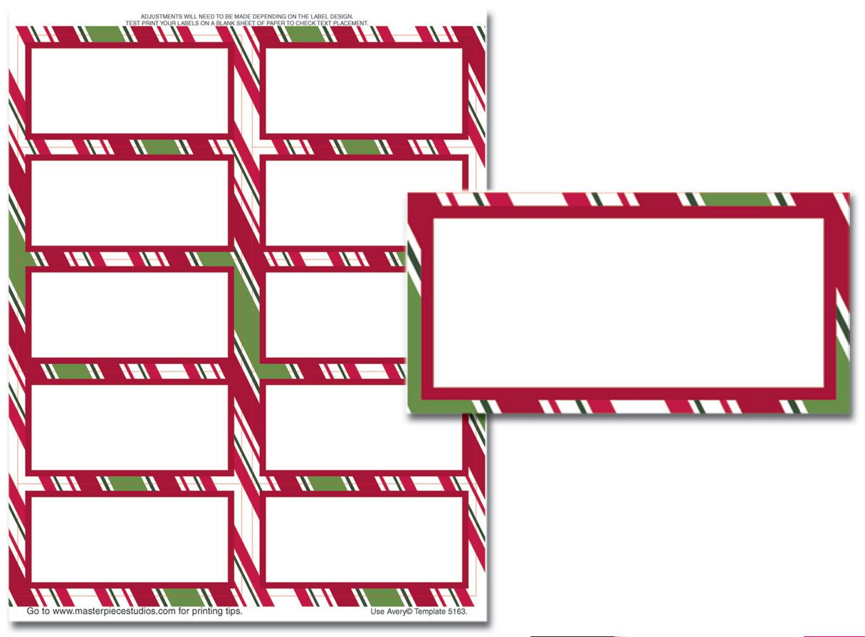 Christmas Mailing Labels Template 5163 Label Template