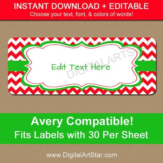Christmas Mailing Labels Template 53 Best Avery Label Templates Images On Pinterest