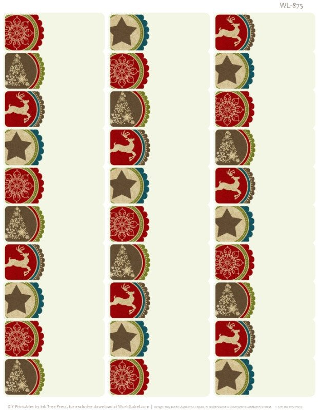 Christmas Mailing Labels Template A Rustic Christmas Printable Label Set