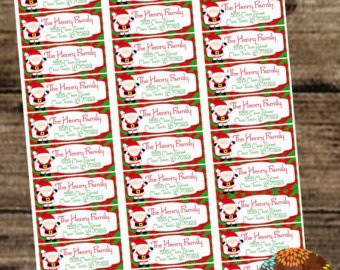 Christmas Mailing Labels Template Avery Christmas Label Templates – Festival Collections