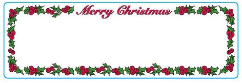 Christmas Mailing Labels Template Christmas Address Labels for Dymo and Seiko Free Shipping