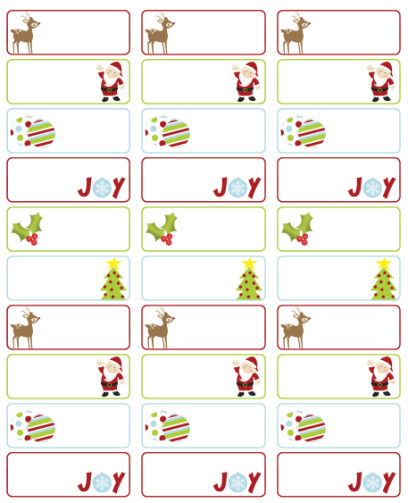 Christmas Mailing Labels Template Free Christmas Labels by Ink Tree Press