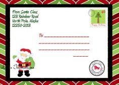 Christmas Mailing Labels Template Shipping Label From Santa at the north Pole Pdf Elf On