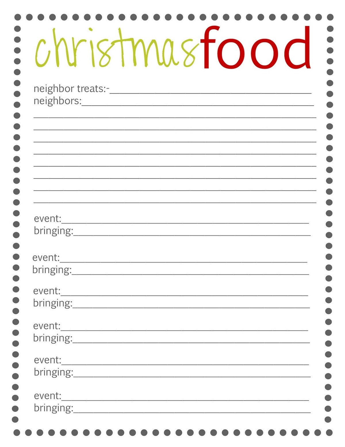 Christmas Potluck Signup Sheet Template Holiday Sign Up Sheet Templates Free