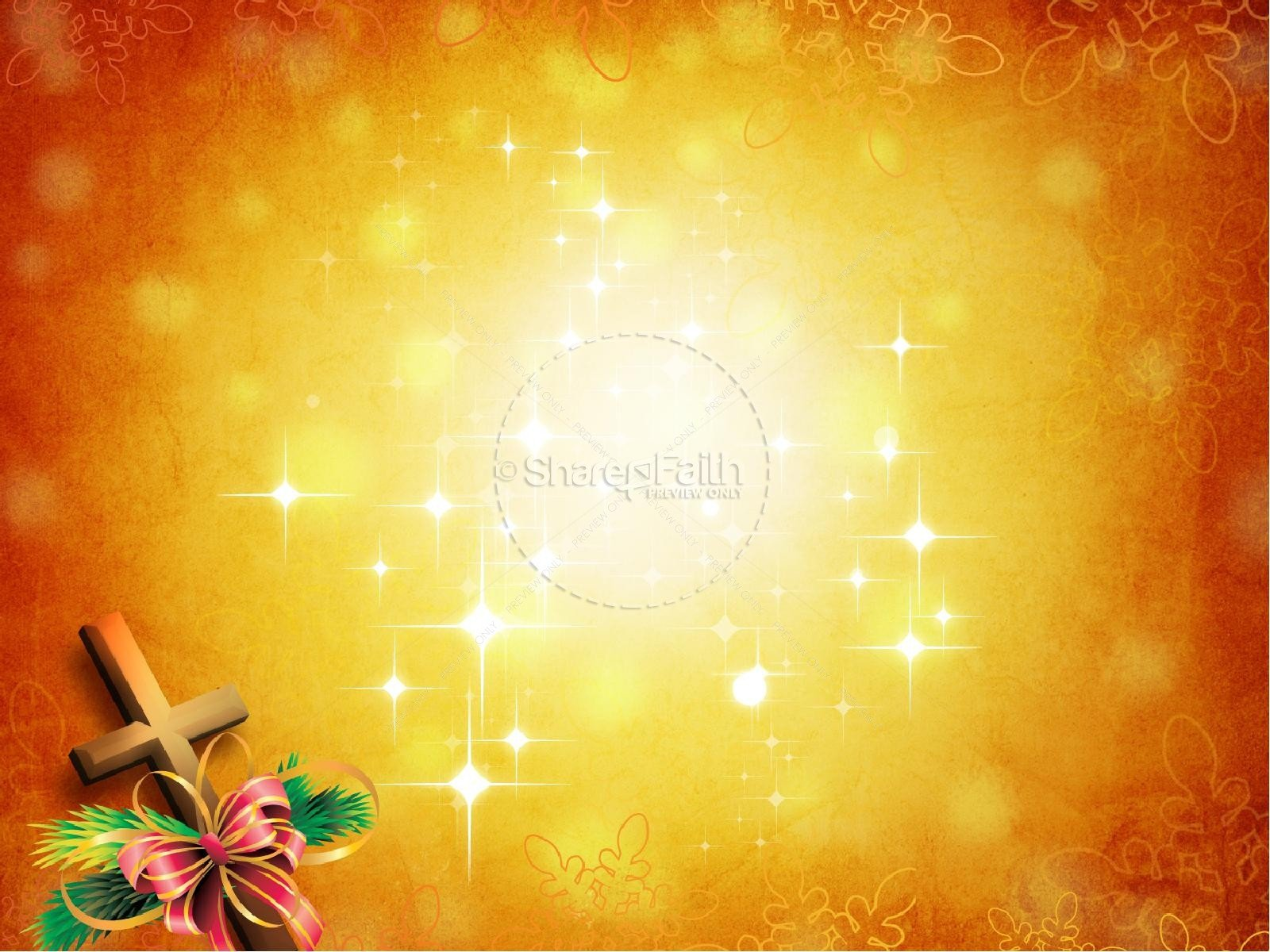Christmas Powerpoint Slide Show Christ In Christmas Powerpoint Template