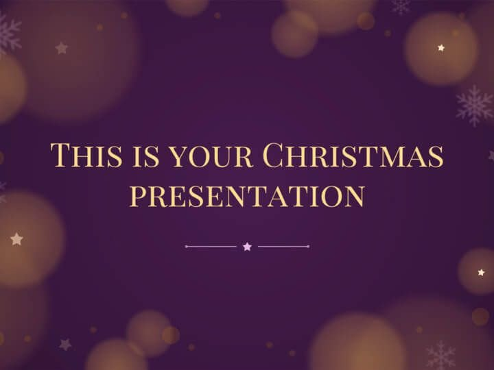 Christmas Powerpoint Slide Show Free Christmas Powerpoint Template or Google Slides theme
