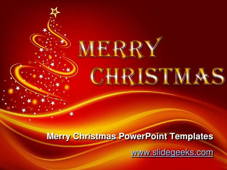 Christmas Powerpoint Slide Show Merry Christmas Power Point Templates