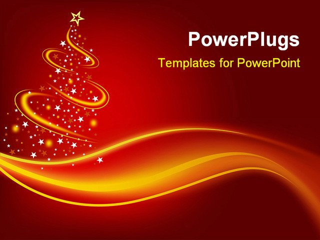 Christmas Powerpoint Slide Show Powerpoint Template Christmas theme with Abstract