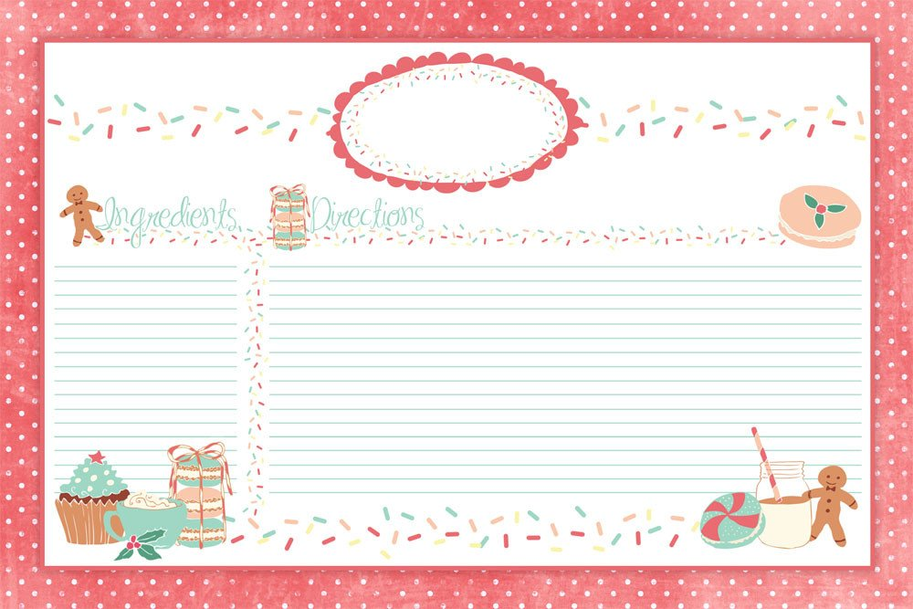 Christmas Recipe Card Template Cute Holiday Recipe Card Printable for You Plus some Sweet