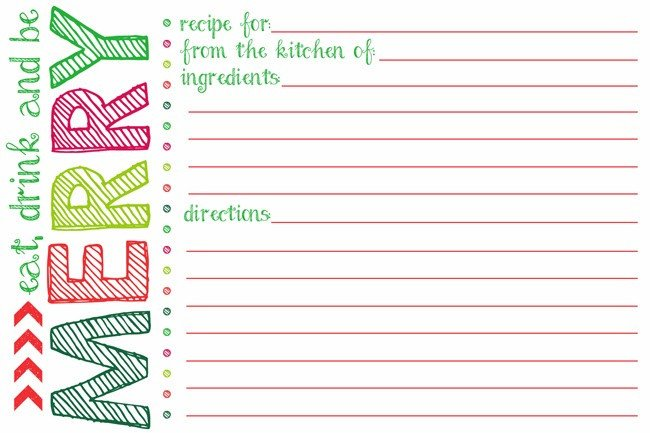 Christmas Recipe Card Template Everything You Need to Know to Host A Holiday Cookie Swap