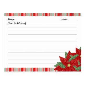 Christmas Recipe Card Template Holiday Recipe Cards Holiday Recipe Card Templates