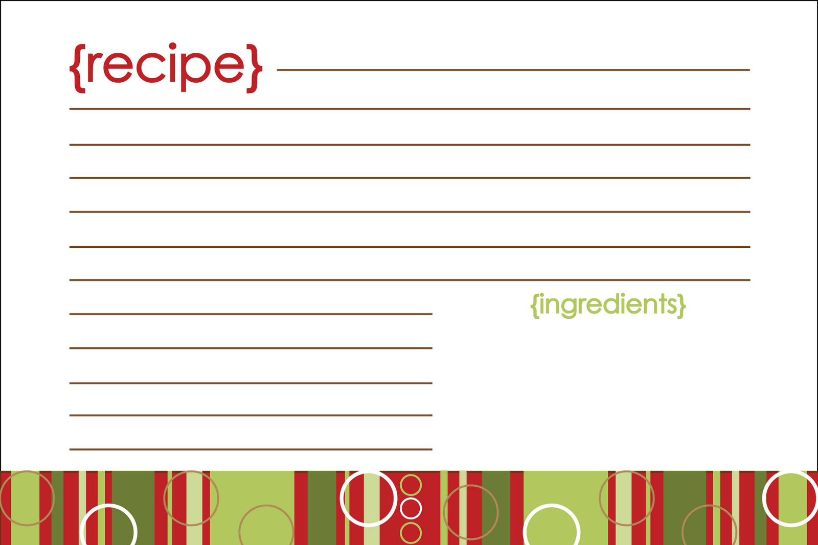 Christmas Recipe Card Template Notably Noted Free Printable Christmas Recipe Card