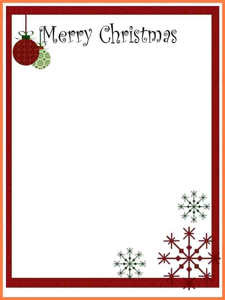 Christmas Stationery Templates Word 7 Christmas Letterhead Templates Word