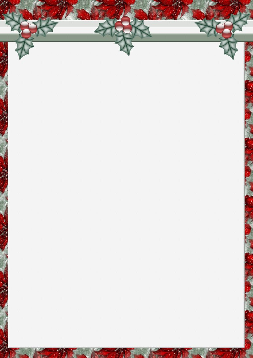 Christmas Stationery Templates Word A4 Christmas theme Free Stationery Pg 1