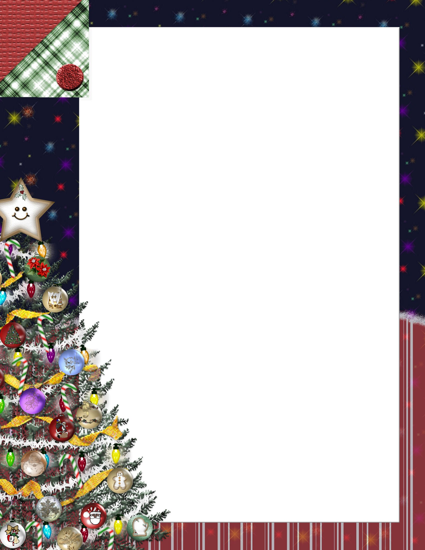 Christmas Stationery Templates Word Christmas 1 Free Stationery Template Downloads