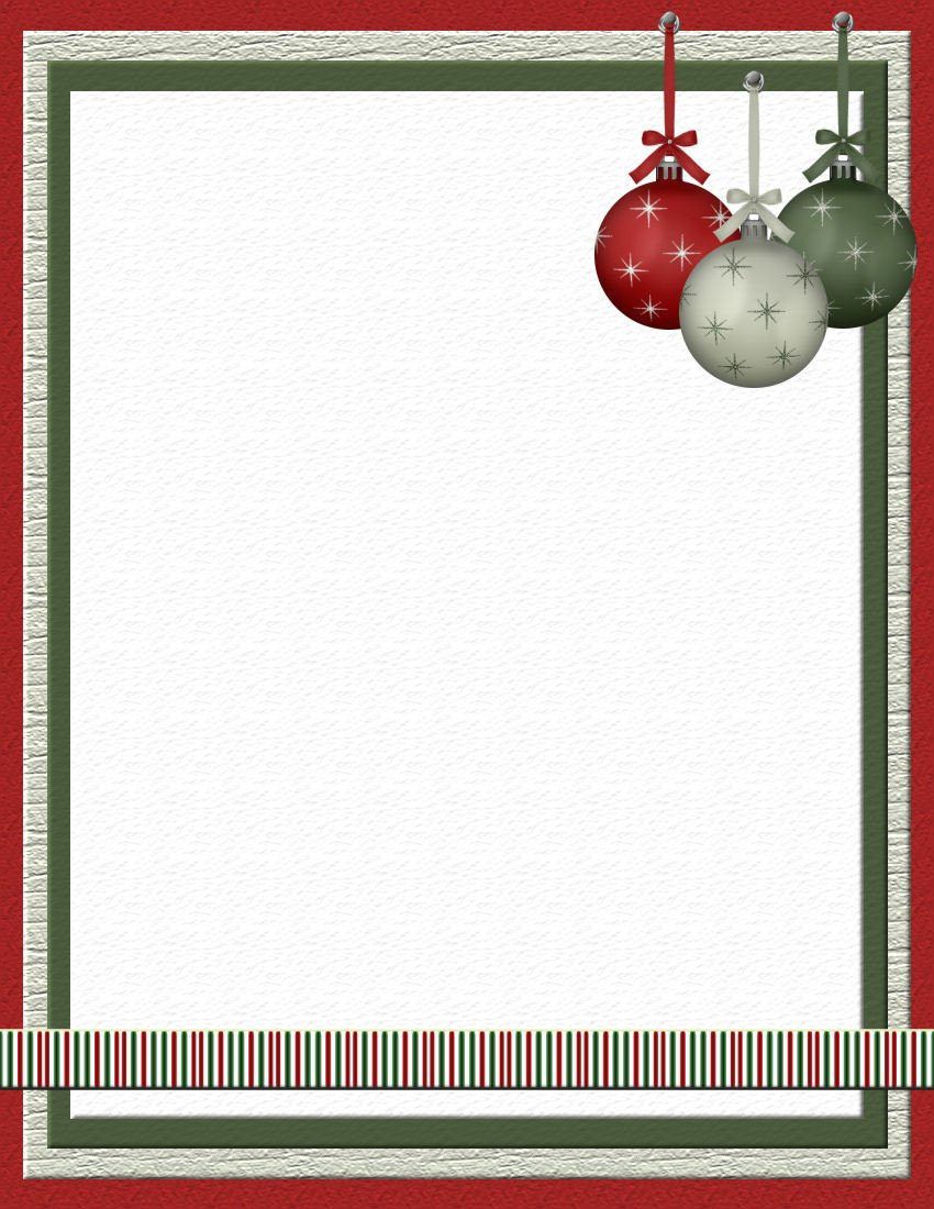 Christmas Stationery Templates Word Christmas 2 Free Stationery Template Downloads