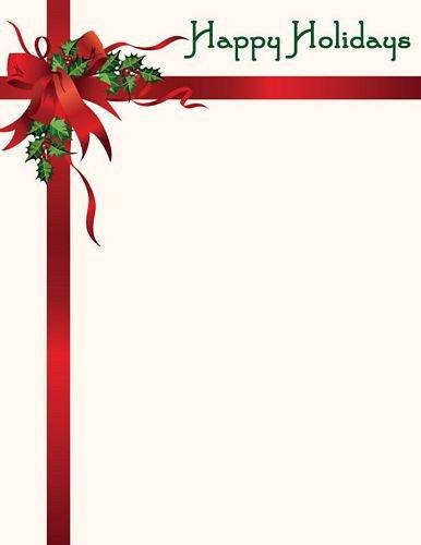 Christmas Stationery Templates Word Christmas Letterhead Happy Holidays Stationery