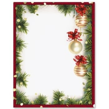 Christmas Stationery Templates Word Christmas Twilight Border Papers Paperdirect