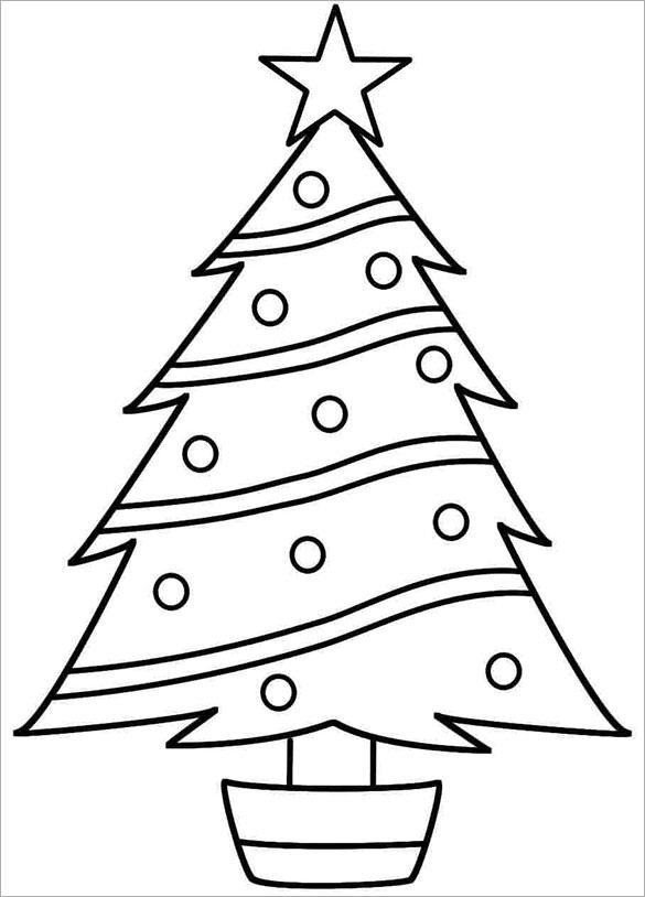 Christmas Tree Printable Template 32 Christmas Tree Templates Free Printable Psd Eps