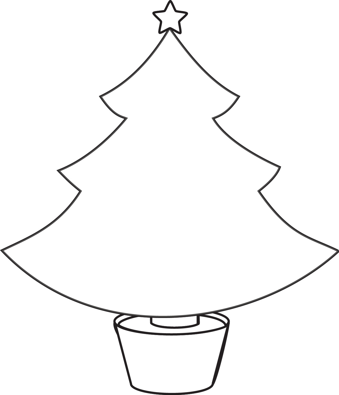 Christmas Tree Printable Template Clipart Christmas Tree Outline Google Search