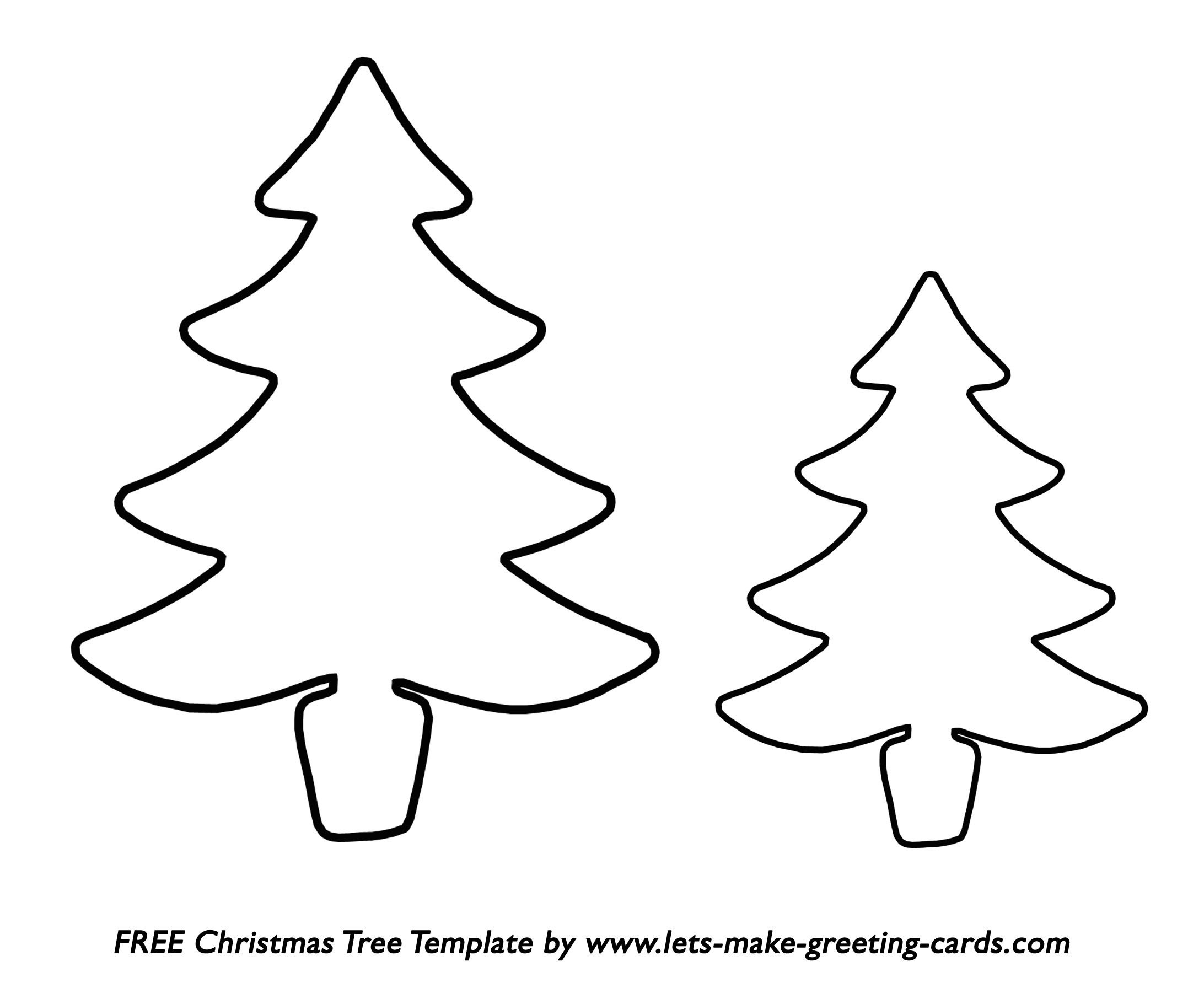 Christmas Tree Printable Template Decadent Chocolate Mousse