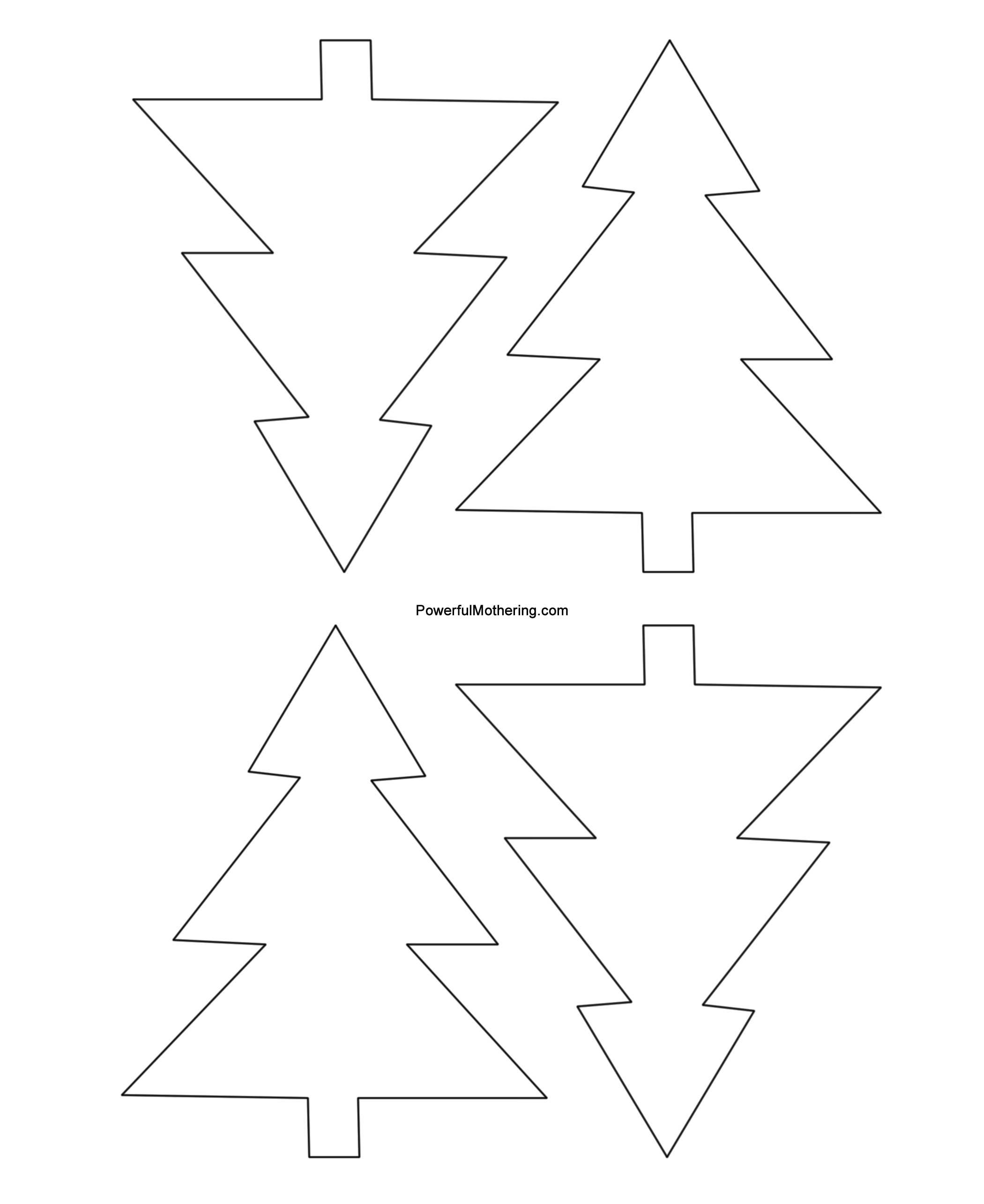 Christmas Tree Printable Template Gingerbread Men Christmas Tree and Star Printables