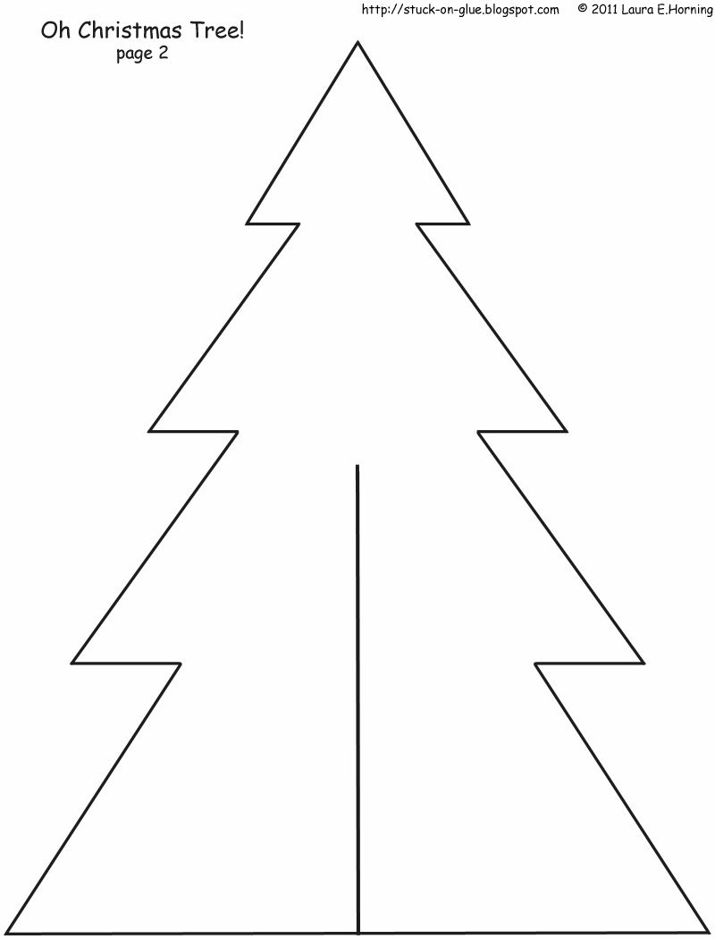 Christmas Tree Printable Template Give Your Octopus A Paintbrush or 8 December 2011