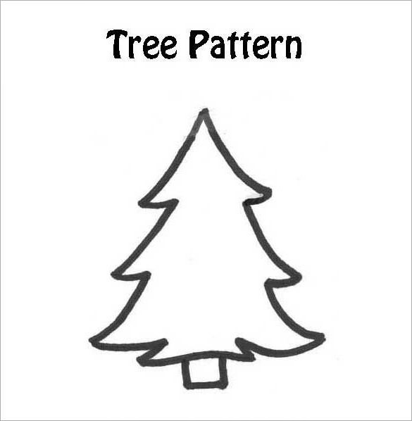Christmas Tree Printable Template Printable Christmas Tree Christmas Printables