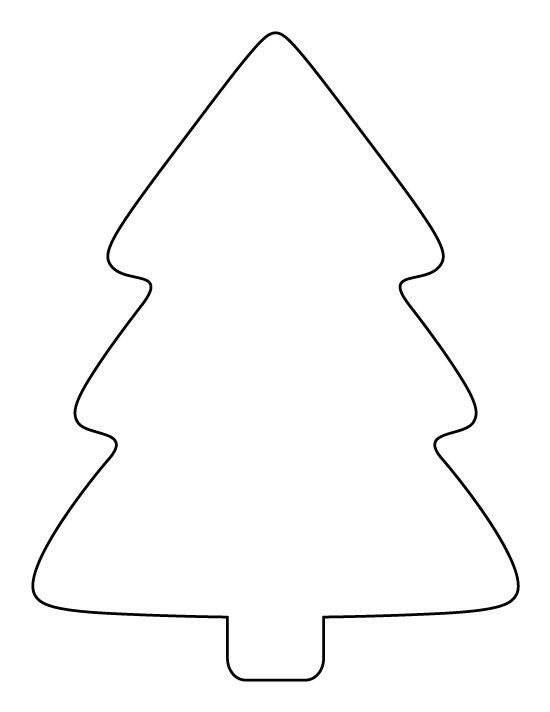 Christmas Tree Printable Template Printable Simple Christmas Tree Pattern Use the Pattern