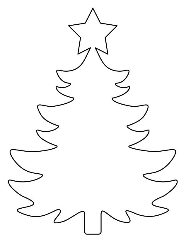 Christmas Tree Template Printable 37 Christmas Tree Templates In All Shapes and Sizes
