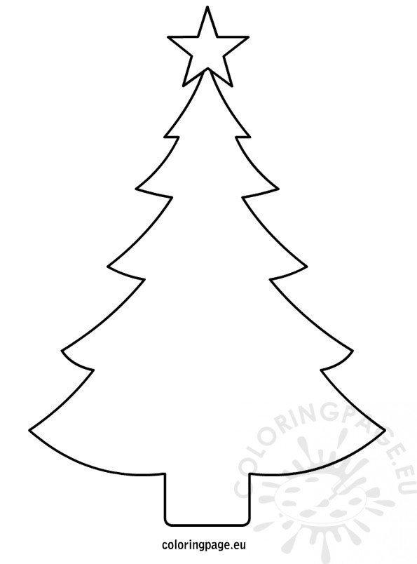 Christmas Tree Template Printable Christmas Tree Template Printable – Coloring Page