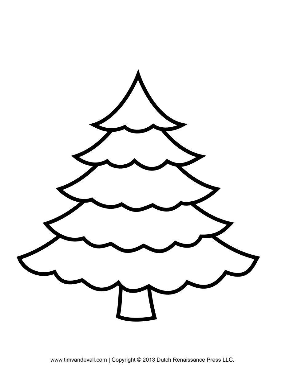 Christmas Tree Template Printable Printable Paper Christmas Tree Template and Clip Art