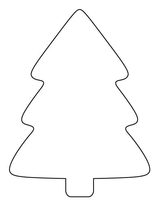 Christmas Tree Template Printable Printable Simple Christmas Tree Pattern Use the Pattern