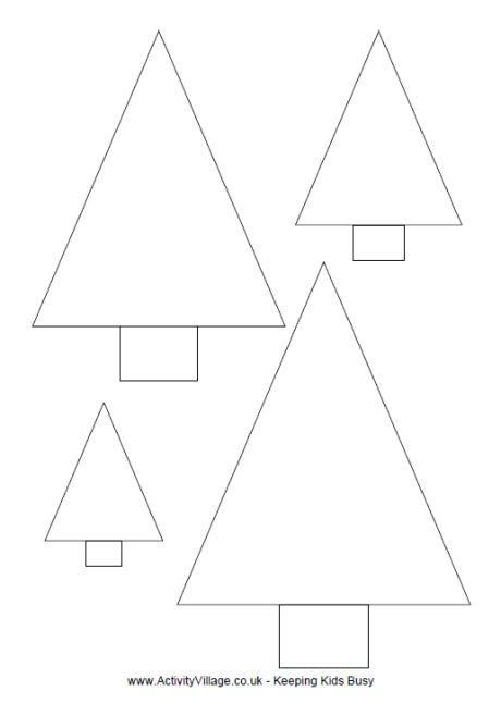Christmas Tree Template Printable Simple Christmas Tree Template to Print