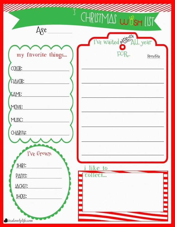 Christmas Wish List Template Best 25 Christmas List Printable Ideas On Pinterest
