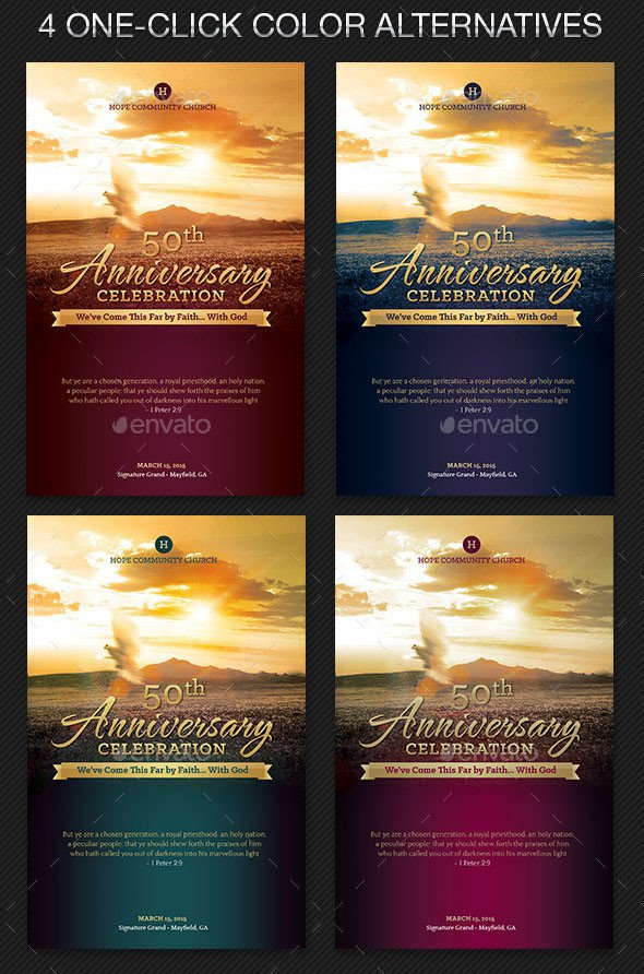 Church Anniversary Program Template 17 Church Program Fireworks Templates Psd